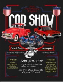 FSMAs CAR SHOW News And Announcements First State Military Academy - Car show games